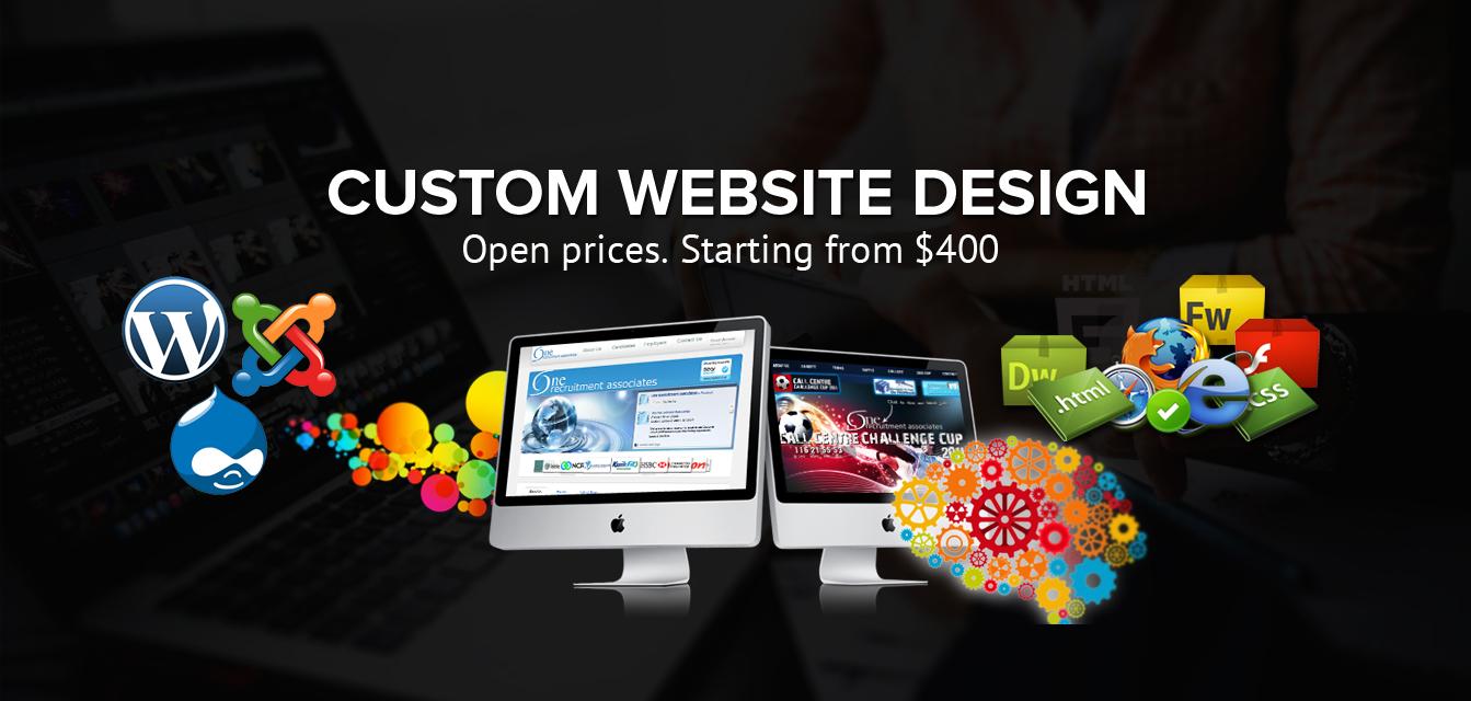 custom website - CUSTOM WEBSITE DESIGN