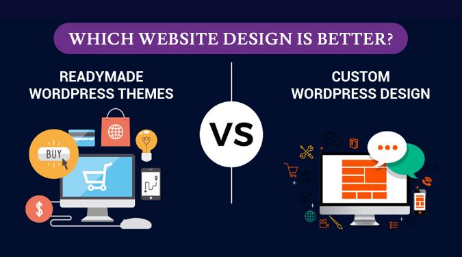 Custom word press design vs readymade WordPress themes